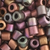 Tube Beads 5.7mm with 2mm Hole Metallic Mix Dyed